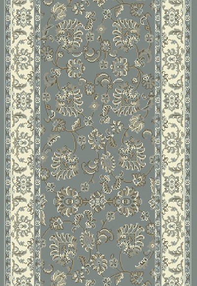"Dynamic Rugs Legacy 58020-510 Light Blue/Ivory 2'7"" Wide Hall and Stair Runner"