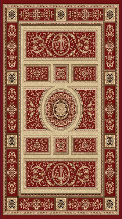 Dynamic Rugs Legacy 58021-330 Red Area Rug