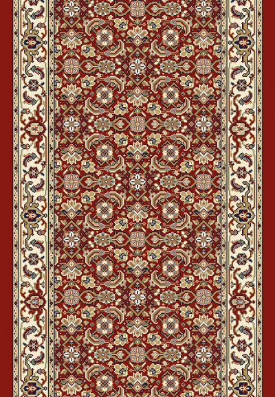 "Dynamic Rugs Ancient Garden 57011-1414 Red Ivory 2'7"" Wide Hall and Stair Runner"