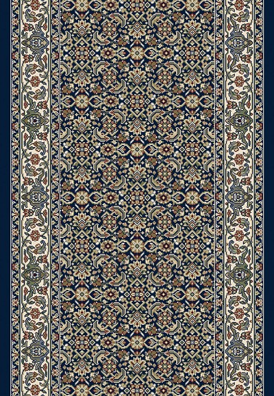 "Dynamic Rugs Ancient Garden 57011-3464 Navy 2'7"" Wide Hall and Stair Runner"