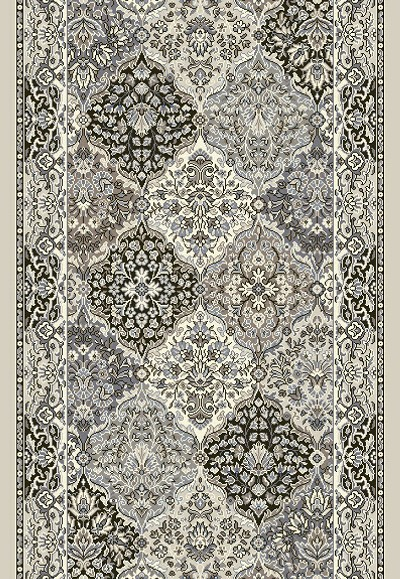 "Dynamic Rugs Ancient Garden 57008-9696 Cream Grey 2'7"" Wide Hall and Stair Runner"