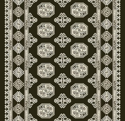 "Dynamic Rugs Ancient Garden 57102-3636 Charcoal Silver 2'2"" Wide Hall and Stair Runner"