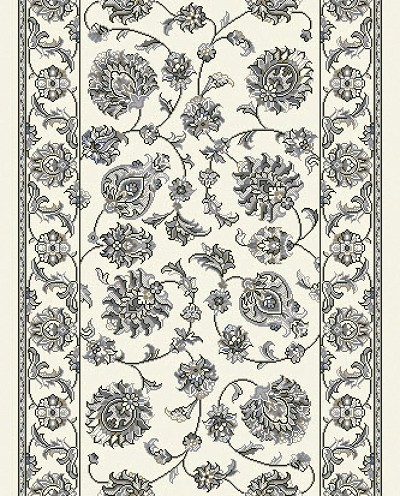 "Dynamic Rugs Ancient Garden 57365-6666 Cream Grey 2'2"" Wide Hall and Stair Runner"