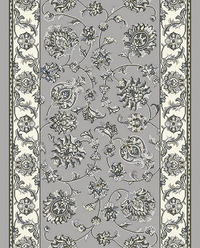"Dynamic Rugs Ancient Garden 57365-9666 Soft Grey Cream 2'2"" Wide Hall and Stair Runner"