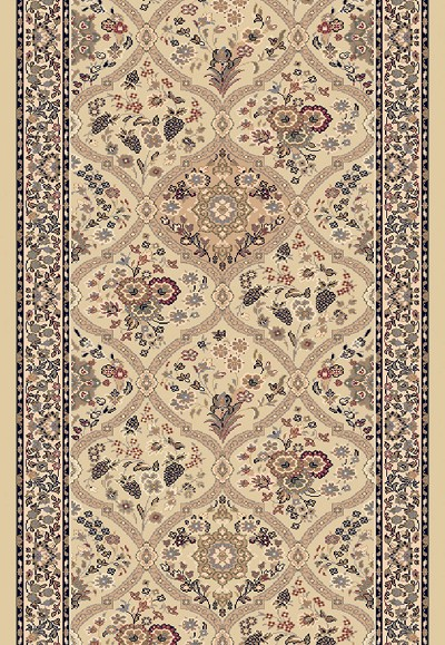 "Dynamic Rugs Brilliant 7211-820 Linen 2'2"" Wide Hall and Stair Runner"