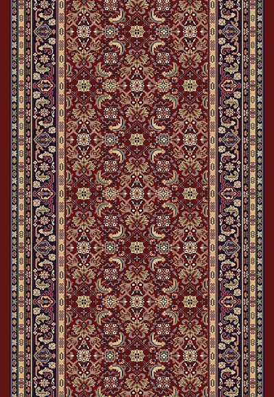 "Dynamic Rugs Brilliant 72240-330 Red 2'2"" Wide Hall and Stair Runner"