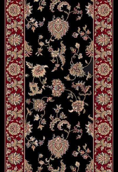"Dynamic Rugs Brilliant 7226-090 Black 2'2"" Wide Hall and Stair Runner"