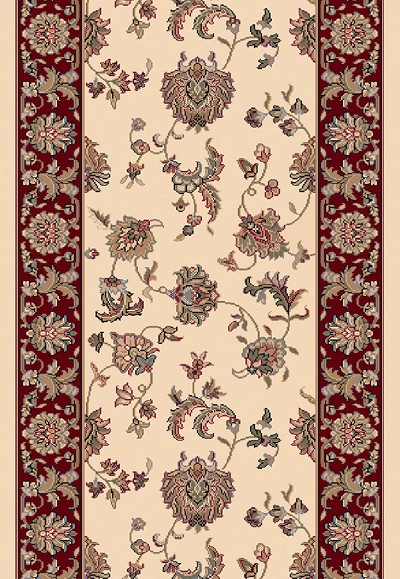 "Dynamic Rugs Brilliant 7226-191 Ivory 2'2"" Wide Hall and Stair Runner"