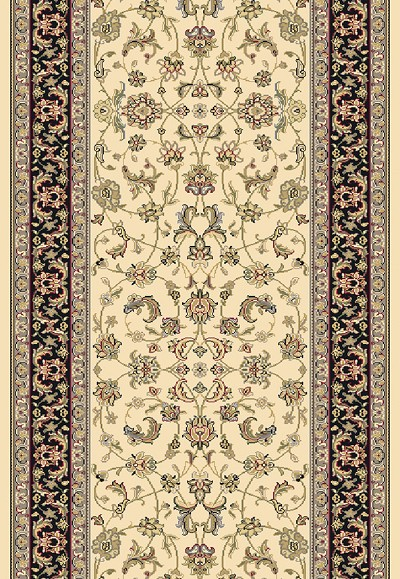 "Dynamic Rugs Brilliant 72284-191 Ivory 2'2"" Wide Hall and Stair Runner"