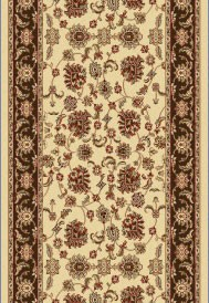 "Dynamic Rugs Legacy 58020-160 Cream Brown 2'2"" Wide Hall and Stair Runner"