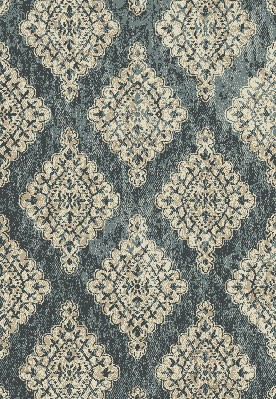"Dynamic Rugs Melody 985015-119 Blue 2'2"" Wide Hall and Stair Runner"