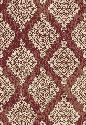 "Dynamic Rugs Melody 985015-619 Terracotta 2'7"" Wide Hall and Stair Runner"