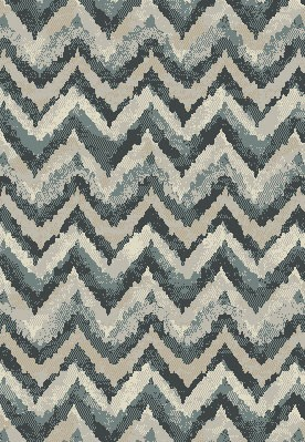 "Dynamic Rugs Melody 985018-119 Blue 2'2"" Wide Hall and Stair Runner"