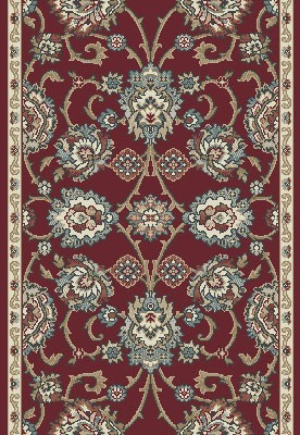 "Dynamic Rugs Melody 985020-339 Red 2'2"" Wide Hall and Stair Runner"