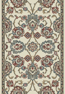 "Dynamic Rugs Melody 985020-414 Ivory 2'7"" Wide Hall and Stair Runner"