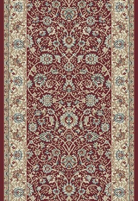 "Dynamic Rugs Melody 985022-339 Red 2'2"" Wide Hall and Stair Runner"