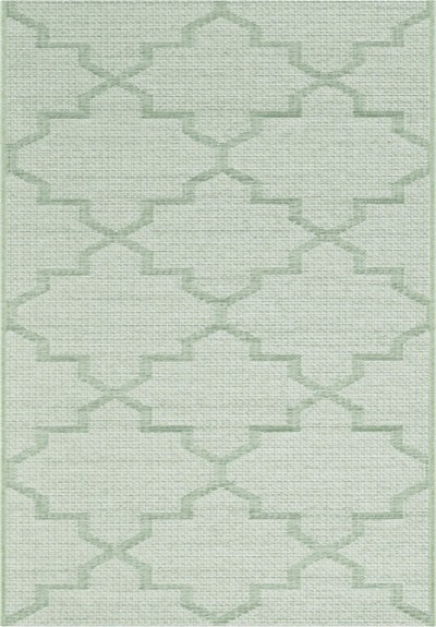 "Dynamic Rugs Newport 96003-4001 Green 2'7"" Wide Hall and Stair Runner"