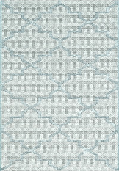 "Dynamic Rugs Newport 96003-5001 Blue 2'7"" Wide Hall and Stair Runner"