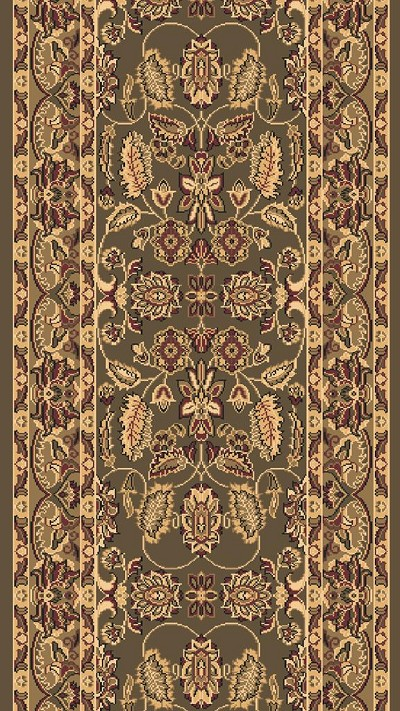 "Dynamic Rugs Shiraz 51006-2500 Green 2'7"" Wide Hall and Stair Runner"