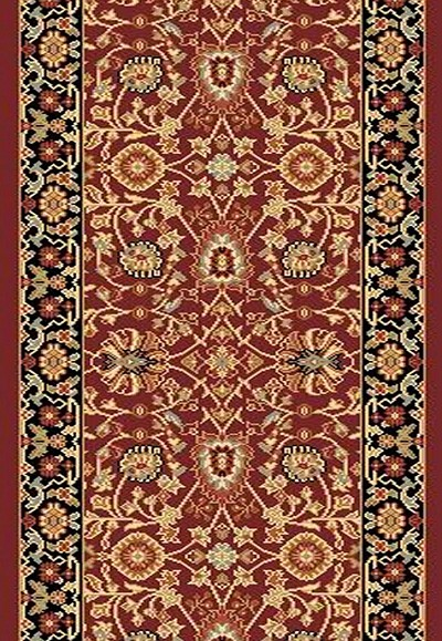 "Dynamic Rugs Yazd 2803-390 Red Black 2'2"" Wide Hall and Stair Runner"