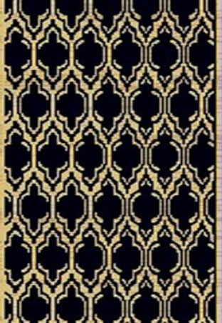 "Dynamic Rugs Yazd 2816-090 Black 2'2"" Wide Hall and Stair Runner"