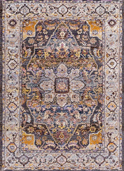 Dynamic Rugs Signature 5342-979 Navy Tan Multi Area Rug