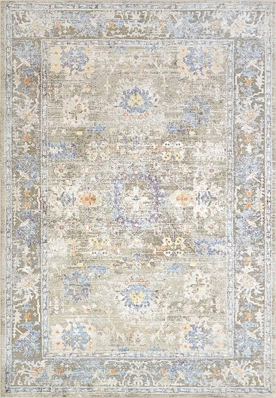 Dynamic Rugs Valley 7981-975 Grey/Gold/Blue Area Rug