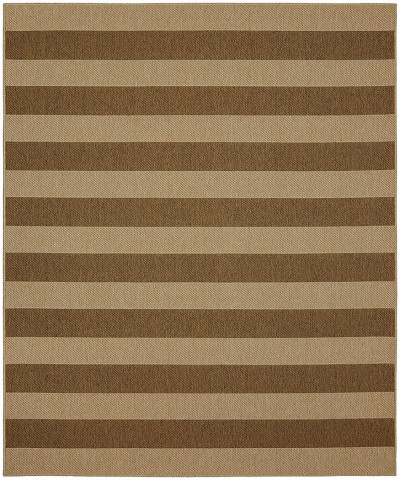 Portico 91020-1167 Riviera Stripe Natural Indoor-Outdoor Area Rug - Karastan