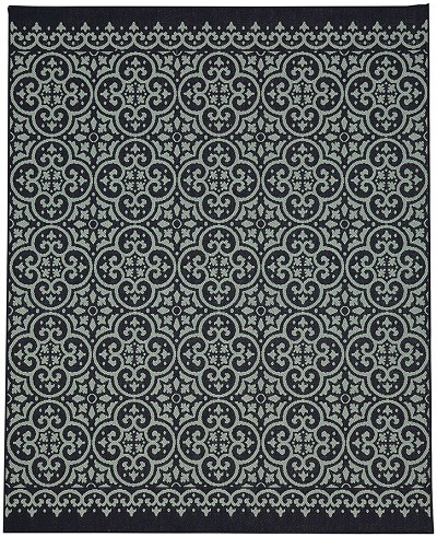 Portico 91022-2095 Amalfi Navy Indoor-Outdoor Area Rug - Karastan