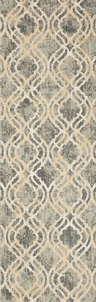 "Karastan Euphoria Potterton Ash Grey 90274-5913 2' 4"" (28"") Wide Hall and Stair Runner"