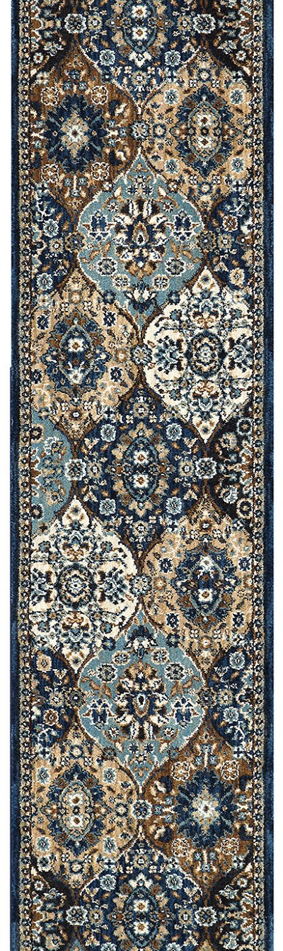 "Karastan Spice Market 90669-50130 Levant Sapphire 2'4"" (28"") Wide Hall and Stair Runner"