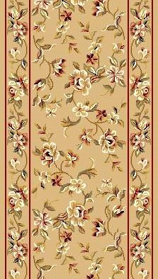 "Kas Cambridge Floral 7338 Beige Floral Delight 2'3"" (27"") Wide Hall and Stair Runner"