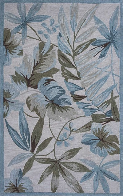 Kas Oriental Coral 4151 Ivory Tropica Area Rug