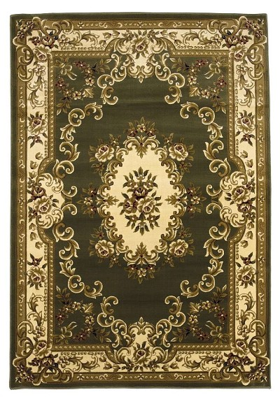 Corinthian 5312 Green Ivory Aubusson Area Rug By Kas