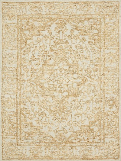 Annie ANN-03 White Gold Area Rug - Magnolia Home by Joanna Gaines