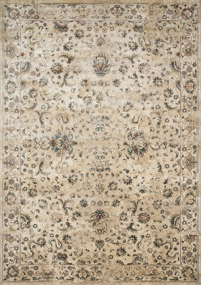 Evie VU-04 Ivory/Multi Area Rug - Magnolia Home by Joanna Gaines