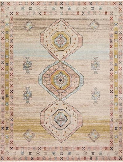 Graham GRA-04 Antique Ivory/Multi Area Rug - Magnolia Home by Joanna Gaines