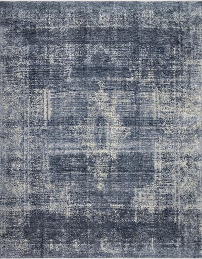 Kennedy KEN-01 Denim/Denim Area Rug - Magnolia Home by Joanna Gaines