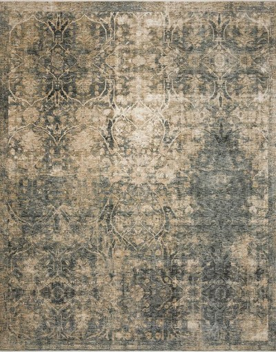 Kennedy KEN-02 Lagoon/Sand Area Rug - Magnolia Home by Joanna Gaines
