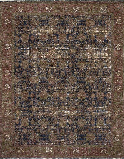 Kennedy KEN-03 Blue/Multi Area Rug - Magnolia Home by Joanna Gaines