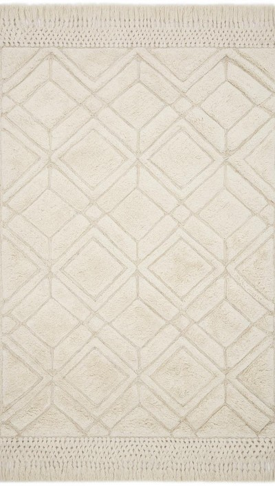 Laine LAI-01 Ivory Area Rug - Magnolia Home by Joanna Gaines