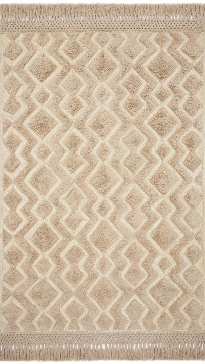 Laine LAI-03 Blush/Natural Area Rug - Magnolia Home by Joanna Gaines
