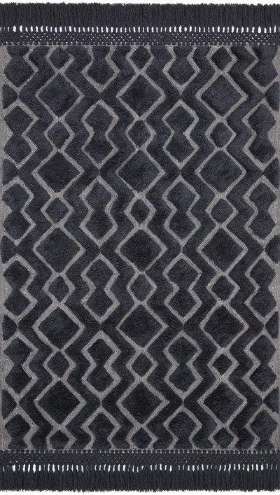 Laine LAI-03 Grey/Charcoal Area Rug - Magnolia Home by Joanna Gaines