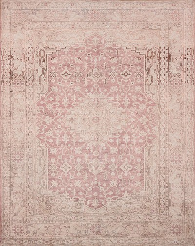Lucca LF-01 Terracotta Ivory Area Rug - Magnolia Home by Joanna Gaines