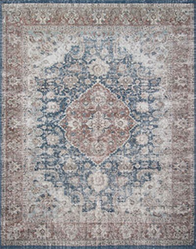 Lucca LF-10 Denim/Terracotta Area Rug - Magnolia Home by Joanna Gaines