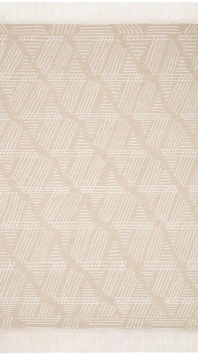 Newton NET-03 Sand/Ivory Area Rug - Magnolia Home by Joanna Gaines