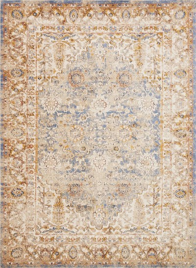 Trinity TY-05 Blue Multi Area Rug - Magnolia Home by Joanna Gaines