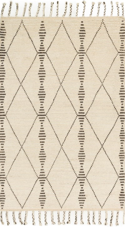 Tulum TF-01 Ivory Pebble Area Rug - Magnolia Home by Joanna Gaines