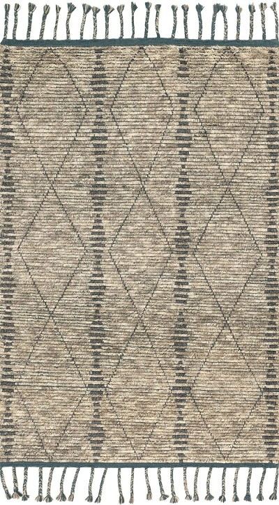 Tulum TF-01 Stone Blue Area Rug - Magnolia Home by Joanna Gaines