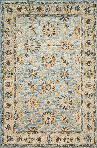 Loloi Victoria VK-18 Lt. Blue/Natural Area Rug